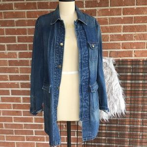 Ralph Lauren Denim Chore Coat Oversized Jacket